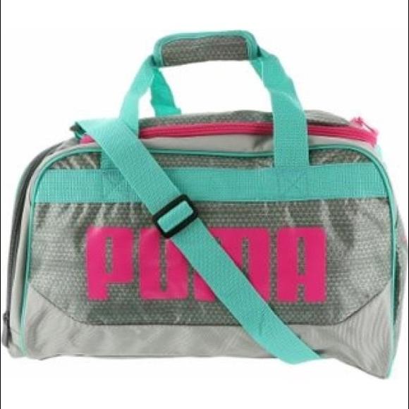2ca66b6ce6 Puma Evercat Duffel Bag Workout Gym Pink